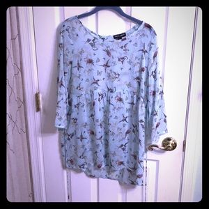 ABOUT A GIRL hummingbird print top, US size L